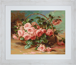 Petit Point Borduurpakket Basket of Roses - Luca-S