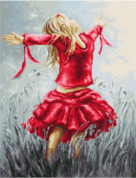 Petit Point Borduurpakket Dancing in the Field - Luca-S