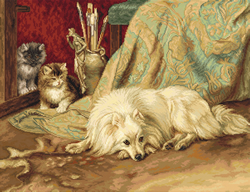 Petit Point borduurpakket The Dog and Cats - Luca-S