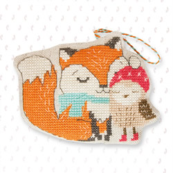 Borduurpakket Hanger Fox and Owl - Luca-S