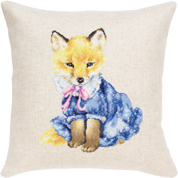 Borduurpakket Pillow Fox in Dress - Luca-S