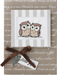 Borduurpakket Kaart Two Owls - Luca-S