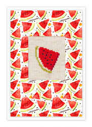 Borduurpakket Postcard Watermelon - Luca-S