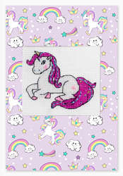 Borduurpakket Postcard Unicorn - Luca-S