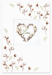 Borduurpakket Postcard - Love Cotton - Luca-S
