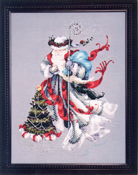 Borduurpatroon Winter White Santa - Mirabilia Designs
