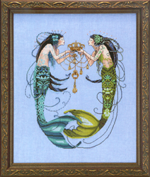 Borduurpatroon The Twin Mermaids - Mirabilia Designs