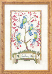 Borduurpatroon Four Calling Birds - Mirabilia Designs