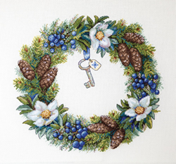Borduurpakket Winter Wreath - Merejka