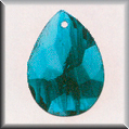 Glass Treasures Marbled Teardrop-Blue - Mill Hill