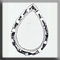 Glass Treasures Open Faceted Teardrop-Silver - Mill Hill
