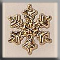 Glass Treasures Small Snowflake-Gold - Mill Hill