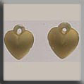 Glass Treasures Very Small Dmd Heart-Matte Gold - Mill Hill