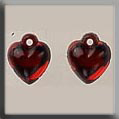 Glass Treasures Very Sml Domed Heart-Bright Red - Mill Hill