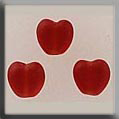 Glass Treasures Small Channeled Heart-Matte Ruby - Mill Hill