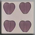 Glass Treasures Medium Chnld Heart-Matte Amethys - Mill Hill
