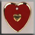 Glass Treasures Medium Engraved Heart-Red-Gold - Mill Hill