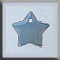 Glass Treasures Small Flat Star-Opal Bright - Mill Hill