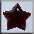 Glass Treasures Large Flat Star-Red Bright - Mill Hill