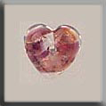 Glass Treasures Heart-Red Opal - Mill Hill