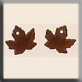 Glass Treasures Maple Leaf-Matte Autumn Topaz (2) - Mill Hill