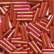 Medium Bugle Beads Red Rainbow - Mill Hill