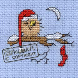 Borduurpakket Christmas Eve Owl - Mouseloft