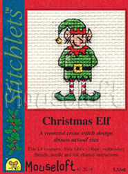 Borduurpakket Christmas Elf - Mouseloft