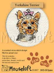 Borduurpakket Yorkshire Terrier - Mouseloft