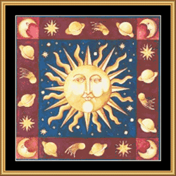 Borduurpatroon Celtic Sun - Mystic Stitch