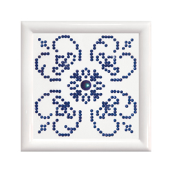 Diamond Dotz Blue on White with Frame - Needleart World