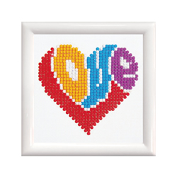 Diamond Dotz LOVE with Frame - Needleart World