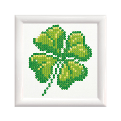 Diamond Dotz Four Leaf Clover with Frame - Needleart World