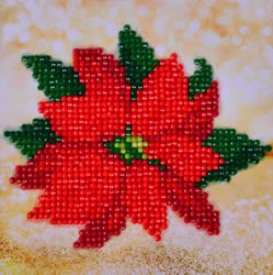 Diamond Dotz Poinsettia Picture - Needleart World