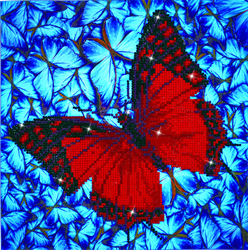 Diamond Dotz Flutterby Red - Needleart World