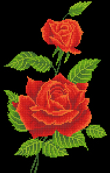 Diamond Dotz Red Rose Corsage - Needleart World