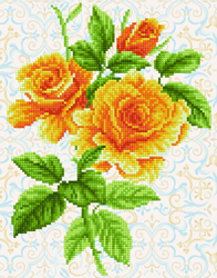 Diamond Dotz Yellow Rose Bouquet - Needleart World