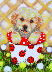 Diamond Dotz Pup in Pot - Needleart World