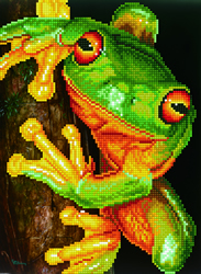 Diamond Dotz Green Tree Frog - Needleart World