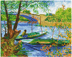 Diamond Dotz Fishing in Spring (Van Gogh) - Needleart World