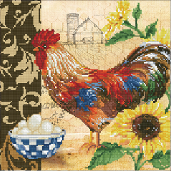 Diamond Dotz Country Rooster - Needleart World