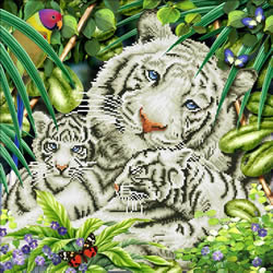 Diamond Dotz White Tiger & Cubs - Needleart World