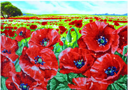 Diamond Dotz  Red Poppy Field - Needleart World