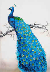 Diamond Dotz Blue Peacock - Needleart World