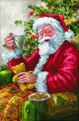 Diamond Dotz Santa's Cuppa - Needleart World