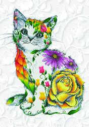 Diamond Dotz Flower Puss - Needleart World