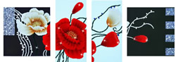 Diamond Dotz Art Deco Poppies - Needleart World