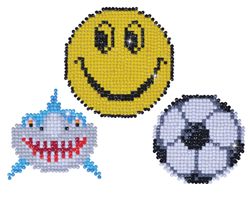 Diamond Dotz 3 Stickers Multi Pack - Smile - Needleart World