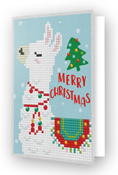 Diamond Dotz Greeting Card Merry Christmas Llama - Needleart World