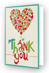 Diamond Dotz Greeting Card Thank You Heart - Needleart World